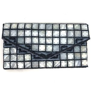 Anthropologie Bags - Mother of Pearl Beaded Clutch